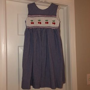 Orient Expressed Girls Smocked Cherries dress 7